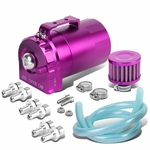 Universal Aluminum Dual Chamber Filter Reservoir Breather Baffled Oil Catch Tank Purple