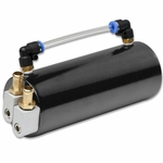 UNIVERSAL CAPACITY BILLET ALUMINUM PERFORMANCE OIL CATCH RESERVOIR TANK - BLACK