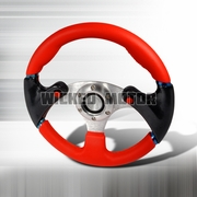 Universal F16-Style Steering Wheel 320Mm - Red