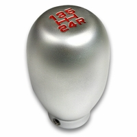 Universal JDM 5-Speed Manual Transmission Light-Weight Shift Knob Aluminum - Silver
