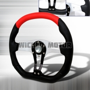Universal Technic Style Steering Wheel 350Mm- Red / Black