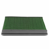 VW CC / Eos / Passat / Audi TT Quattro Reusable Replacement Engine High Flow Drop-in Air Filter (Green)