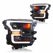 WinJet 15-16 Ford F-150 LED DRL / Signal Projector Headlights - Black