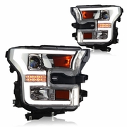WinJet 15-16 Ford F-150 LED DRL / Signal Projector Headlights - Chrome