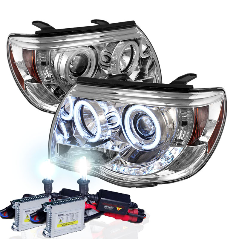 Xenon hid kit 05 11 toyota tacoma halo led projector headlights xenon hid kit 05 11 toyota tacoma halo led projector headlights chrome publicscrutiny Image collections
