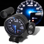 "XTune 3.75"" Blue LED 11000-RPM Techometer RPM Gauge"