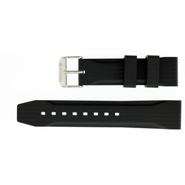 22mm Italian Rubber Strap Carbon Design