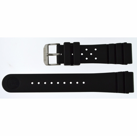 22mm Italian Rubber Strap Old Skool SOFT  Vent Diver Design