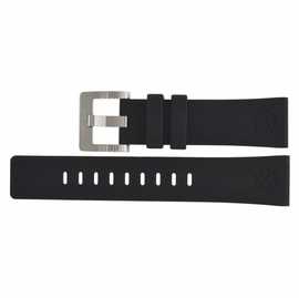 22mm Silicon Strap BLACK with logo