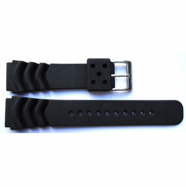 "22mm Silicon VENT  Dive Strap ""Deep Blue"" Logo on buckle"
