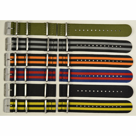 "22mm ""ZUTO"" Ballistic Nylon 2 pc 3 Square Ring Strap"
