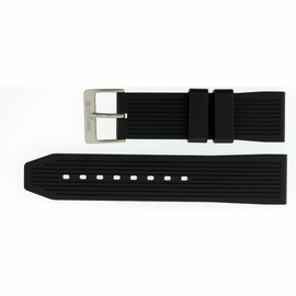 24mm Italian Rubber Strap Stripe Design