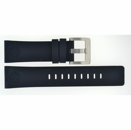 24mm Silicon Strap BLACK