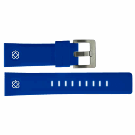 24mm Soft Silicon Strap BLUE with WHITE logo