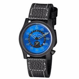 "AIR BLUE ""PAPA"" PRAESTO  PILOT WATCH PVD -BLUE DIAL"