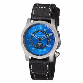 "AIR BLUE ""PAPA"" PRAESTO  PILOT WATCH SS-BLUE DIAL"