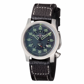 "AIR BLUE ""PAPA"" PRAESTO  PILOT WATCH SS-CHARCOAL DIAL"