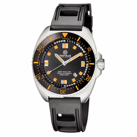 ALL NEW - DEEP STAR 1000  SWISS AUTOMATIC STRAP– DIVER BLACK/ORANGE- BLACK/ORANGE