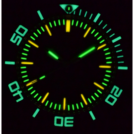 Black Dial Lume Shot