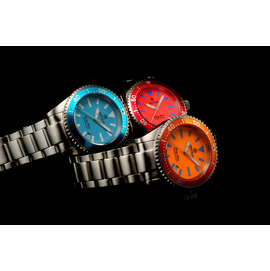 Blue, Cherry Pink, Orange Lume Dials