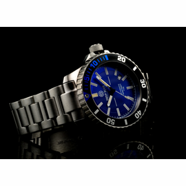 Blue T100 Diver 46mm Blue and orange tritium tubes