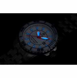 Blue Tech White Dial lume