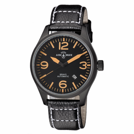 BRAVO AUTOMATIC PVD BLACK CASE BLACK ORANGE DIAL