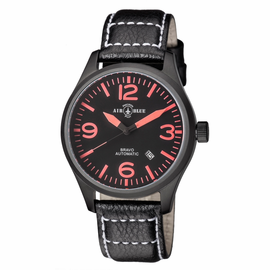 BRAVO AUTOMATIC PVD BLACK CASE BLACK RED DIAL