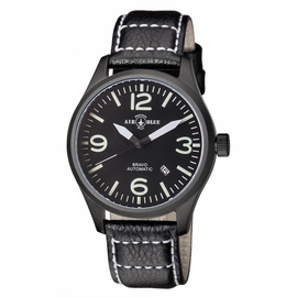 BRAVO AUTOMATIC PVD BLACK CASE BLACK WHITE DIAL