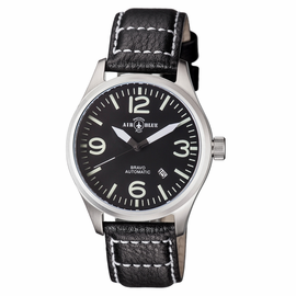 BRAVO AUTOMATIC  STAINLESS CASE BLACK WHITE DIAL