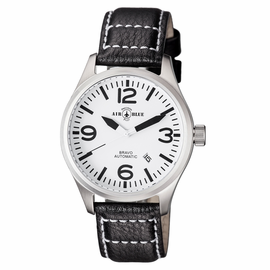 BRAVO AUTOMATIC  STAINLESS CASE WHITE BLACK DIAL