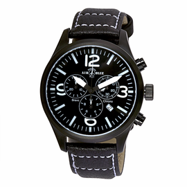 BRAVO CHRONOGRAPH PVD CASE BLACK WHITE  DIAL