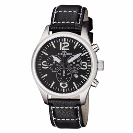 BRAVO CHRONOGRAPH STAINLESS CASE BLACK WHITE  DIAL