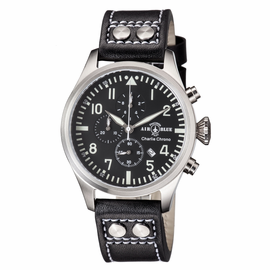 CHARLIE CHRONOGRAPH STAINLESS CASE BLACK WHITE  DIAL