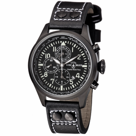 CHARLIE WORLD TIMER  PVD BLACK CASE BLACK WHITE  DIAL