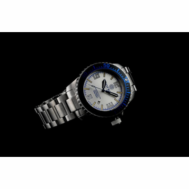 Daynight 32 T-100 Automatic – 32 Tritium Tubes Blue Bezel Silver Dial