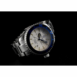 Daynight 65 T-100 Automatic – 65 Tritium Tubes Blue Bezel Silver Dial -