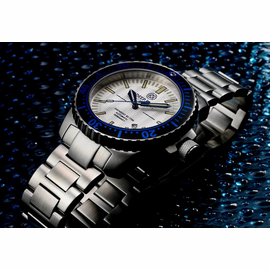 Daynight 65 T-100 Automatic – 65 Tritium Tubes Blue Bezel Silver Dial
