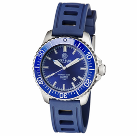 DAYNIGHT  DIVER T-100  AUTOMATIC – SS BLUE  DIVER HYDRO 91 NATRUAL RUBBER STRAP