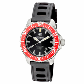 DAYNIGHT  DIVER T-100  AUTOMATIC – SS RED/BLACK  DIVER WITH HYDRO 91 RUBBER STRAP
