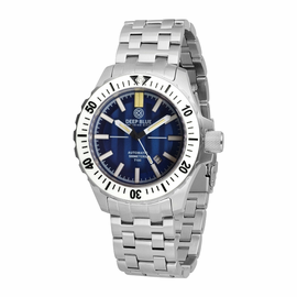 DAYNIGHT SS MIL OPS TRITIUM T-100 CERAMIC WHITE BEZEL -BLUE DIAL