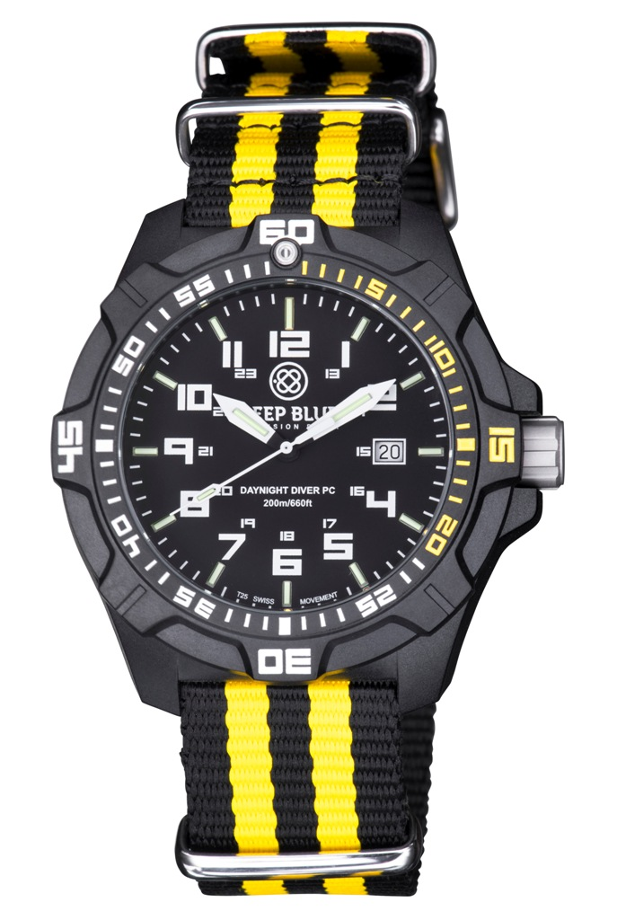 Daynight Pc Tritium Diver Watch Black 1 4 Yellow Sold Out