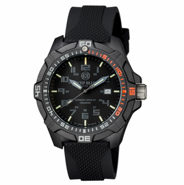DAYNIGHT PC TRITIUM DIVER WATCH  STEALTH � Red Bezel