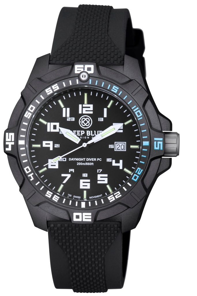 Daynight pc tritium diver watch black blue sold out for Tritium dive watches