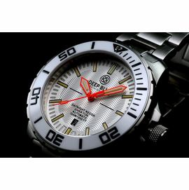 DAYNIGHT -RECON  T100 TRITIUM SWISS MADE WHITE DIAL ORANGE HANDS RARE 2015 MODEL