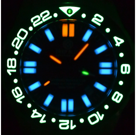 DAYNIGHT RESCUE GMT  T-100 AUTOMATIC TRITIUM LUME