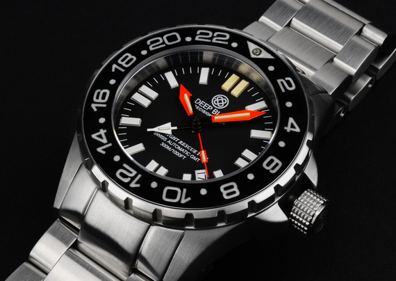 DAYNIGHT RESCUE GMT T-100 SWISS AUTO ETA 2893-2 BLACK/ORANGE