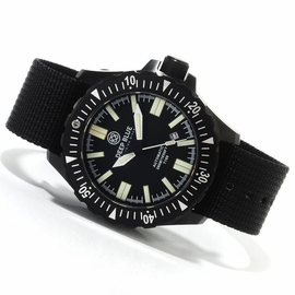 Daynight T-100 Black PVD case -Black Dial - Military Nylon Strap