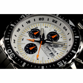 DAYNIGHT T-100 GMT AUTO CHRONOGRAPH   -SWISS MADE WHITE