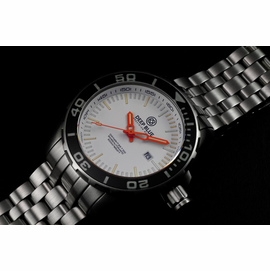 Daynight T-100 Tritium Swiss Auto Sapphire Bezel White Dial Orange Hands